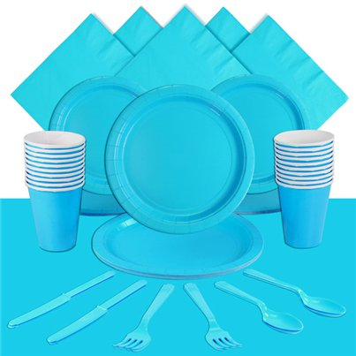 Turquoise Party Pack For 20 People
