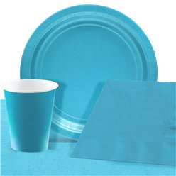 Turquoise Party Pack For 8 People - Value Pack For 8