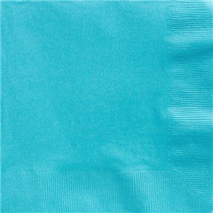 Turquoise Dinner Napkins - 40cm Square 2ply Paper