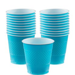 Turquoise - 355ml Plastic Party Cups