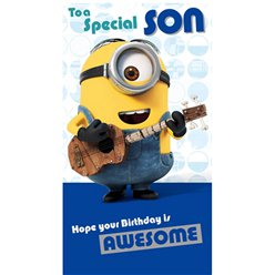 Minions Son Birthday Card