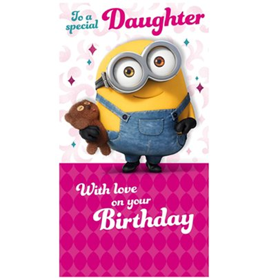 Minions Daughter Birthday Card