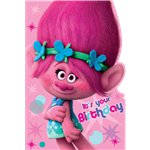 Trolls Birthday Card
