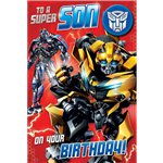 Transformers Son Birthday Card
