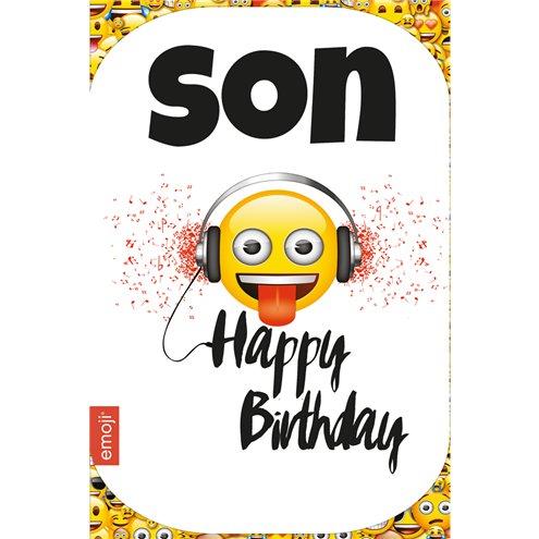 Emoji Son Birthday Card