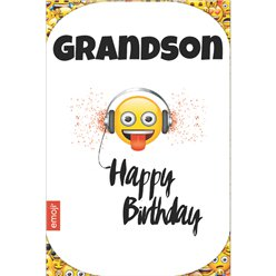 Emoji Grandson Birthday Card