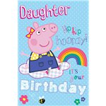 Peppa Pig Daughter Glittery Birthday Card