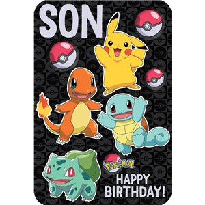 Pokémon Son Birthday Card