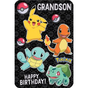 Pokémon Grandson Birthday Card