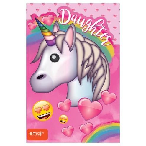 Unicorn Emoji Daughter Birthday Card
