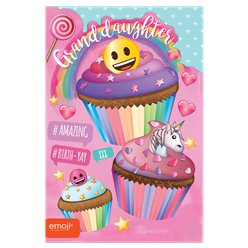 Emoji Granddaughter Birthday Card