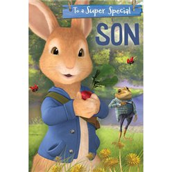 Peter Rabbit 'Son' Pop-Up Birthday Card