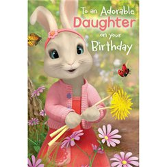 Peter Rabbit 'Daughter' Pop-Up Birthday Card - 232mm x 156mm