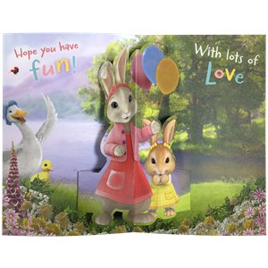 Peter Rabbit 'Daughter' Pop-Up Birthday Card