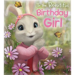 Peter Rabbit 'Birthday Girl' Activity Birthday Card - 182mm x 160mm