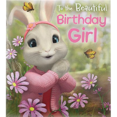 Peter Rabbit 'Birthday Girl' Activity Birthday Card