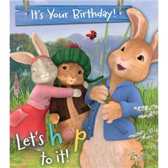 Peter Rabbit Birthday Activity Card - 182mm x 160mm