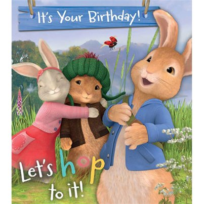 Peter Rabbit Birthday Activity Card