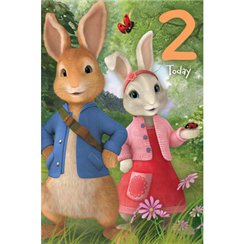 Peter Rabbit Age 2 Activity Birthday Card - 232mm x 156mm