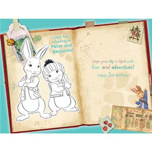 Peter Rabbit Age 2 Activity Birthday Card