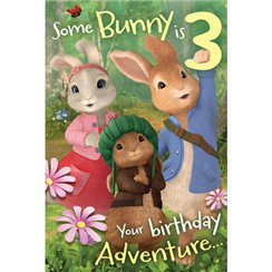 Peter Rabbit Age 3 Activity Birthday Card - 232mm x 156mm