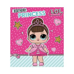 L.O.L. Surprise! Birthday Princess Card