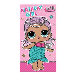 L.O.L. Surprise! Birthday Girl Card