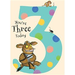 Gruffalo Age 3 Spotty Birthday Card