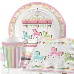Carousel Birthday Party Pack - Value Pack For 8