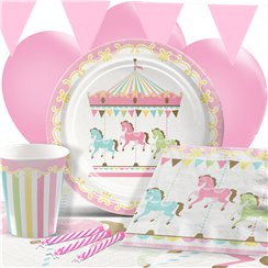 Carousel Birthday Party Pack - Deluxe Pack for 8
