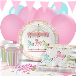 Carousel Birthday Party Pack - Deluxe Pack for 16