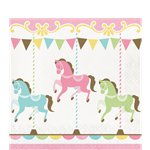 Carousel Party Luncheon Napkins - 33cm