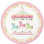 Carousel Party Dinner Plates - 23cm