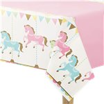 Carousel Party Plastic Tablecover - 2.5m