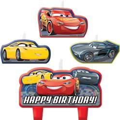 Cars 3 Birthday Cake Candles Set