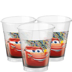 Disney Cars 3 - Plastic Party Cups - 200ml