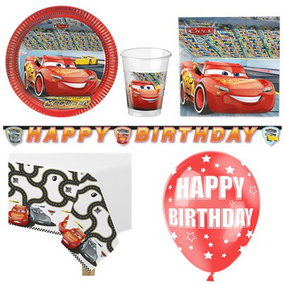 Disney Cars Party Pack - Deluxe Pack for 8