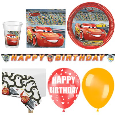 Disney Cars Party Pack - Deluxe Pack for 16