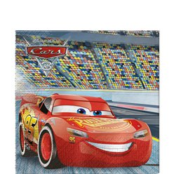 Disney Cars 3 Paper Party Napkins - 33cm