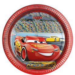 Disney Cars 3 - Paper Party Plates - 23cm
