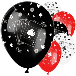 "Casino Print Balloons - 12"" Latex"