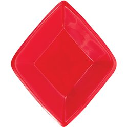 Diamond Plastic Snack Tray -16cm