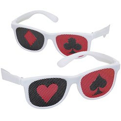 Casino Glasses with Printed Lenses
