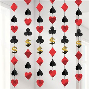 Casino Hanging Strings Decoration - 2.1m