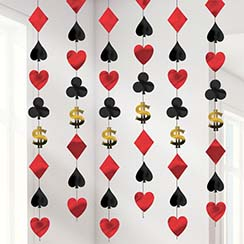 Casino Hanging String Decoration - 2.1m