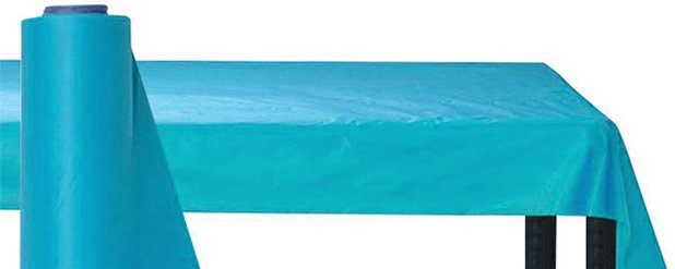 Turquoise Table Roll - 30m Plastic