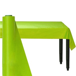 Lime Green Plastic Banqueting Roll - 30m