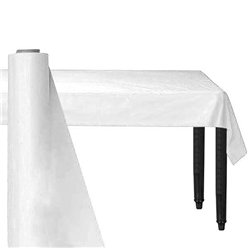 White Plastic Banqueting Roll - 30m