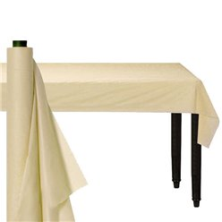 Ivory Plastic Banqueting Roll - 30m