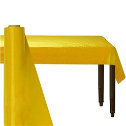 Yellow Plastic Banqueting Roll - 30m